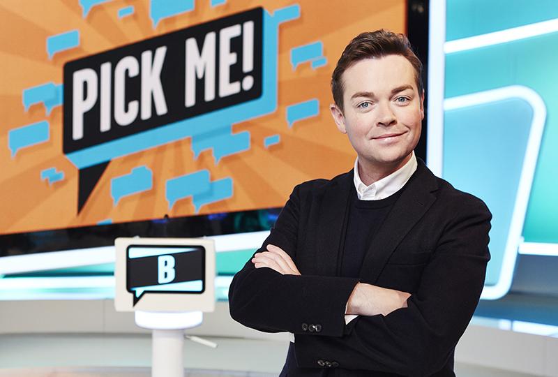 Stephen Mulhern presenting Pick Me!
